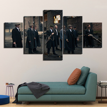 5 Panels HD print Painting peaky blinders Posters Canvas painting Wall Art Movie Poster Picture Home Decoration Printed F2967