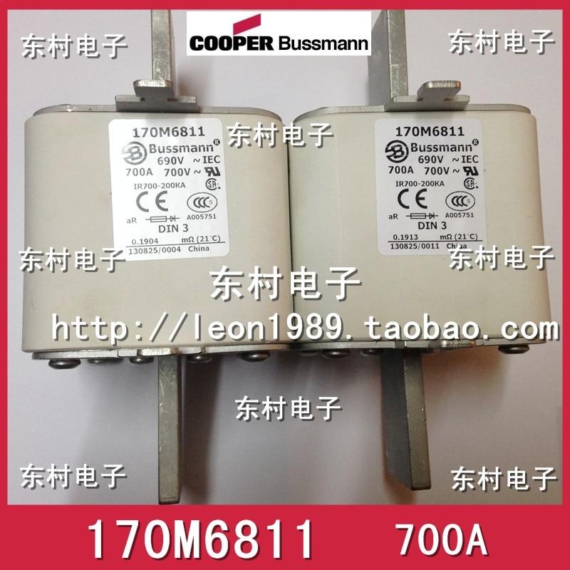 US BUSSMANN fuse 170M6811 170M6811D 700A 690V 700V fuse