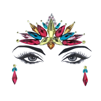 1 Piece Fashion DIY Eyebrow Face Body Art Adhesive Crystal Glitter Jewels Festival Party Eye Tattoo Stickers Makeup Decor