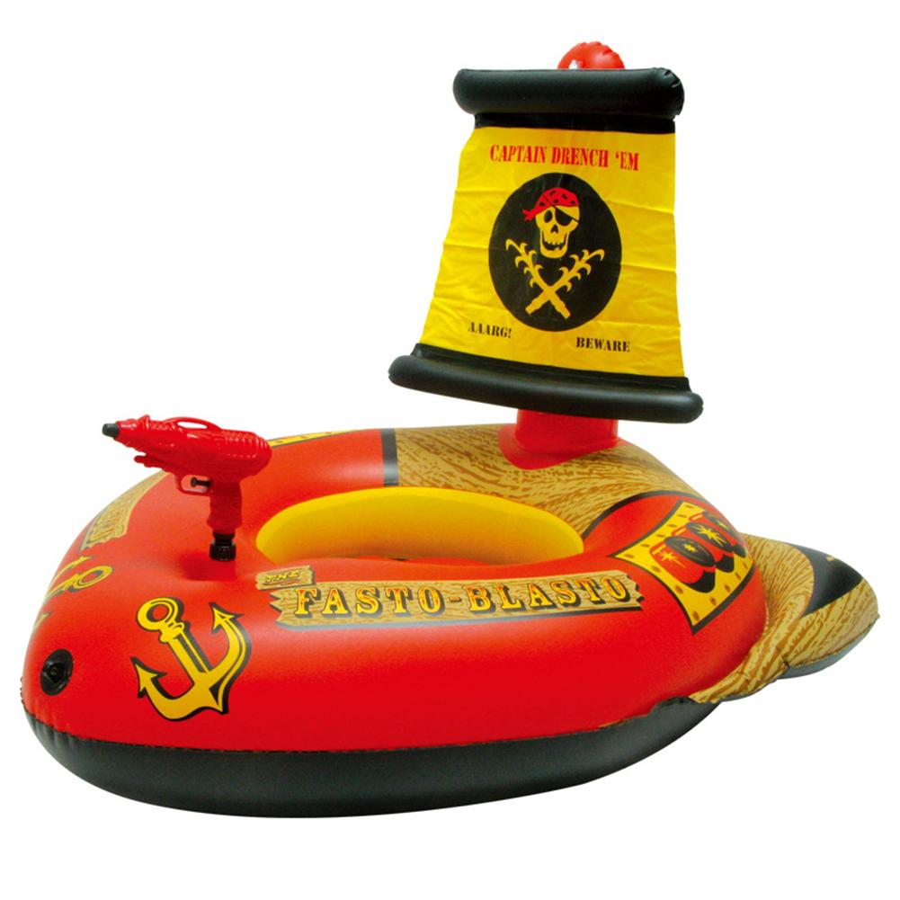 Inflatable Pirate Boat Children Summer Swimming Pool Toy Oversized Floats Water Toy Beach Air Raft For Kid With Free Air PumpInflatable Pirate Boat Children Summer Swimming Pool Toy Oversized Floats Water Toy Beach Air Raft For Kid With Free Air Pump