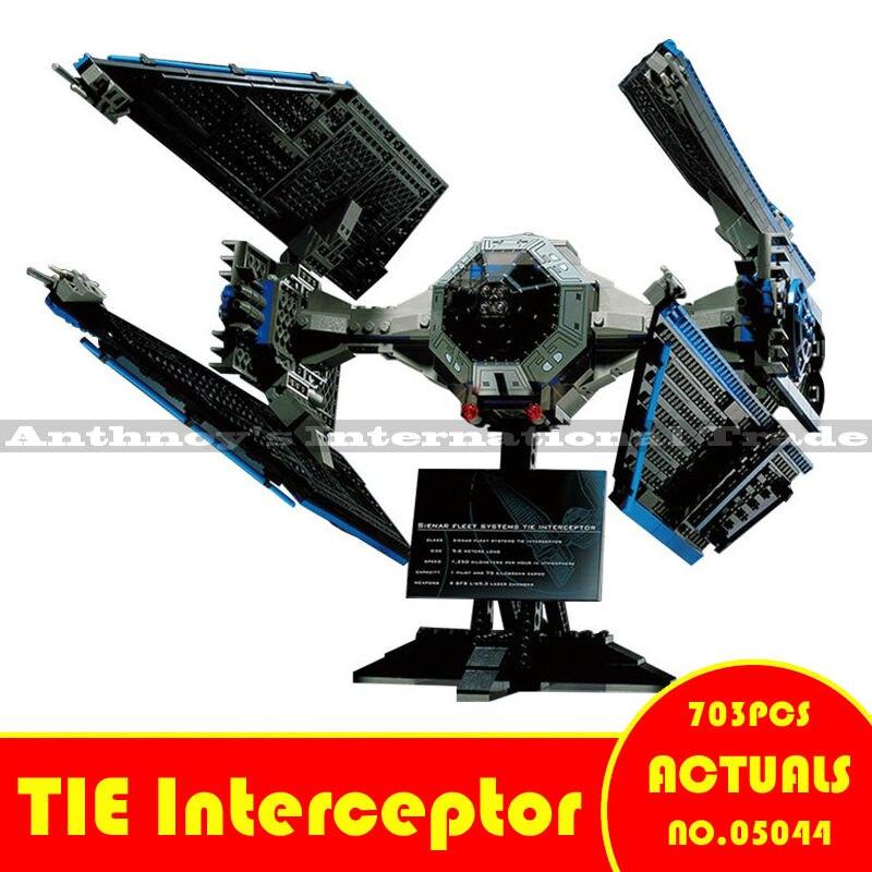 ФОТО New Lepin 05044 703pcs Star War Series Limited Edition The TIE Interceptor Building Blocks Bricks Model Toys Legeod 7181