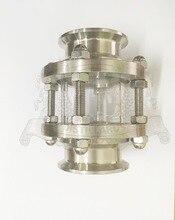 Короткие тип Dioptr, смотровая Башня, смотровое стекло 1,5 «(38) OD 50.5-2» (51 мм) OD 64, Нержавеющая стали 304, длина 110 мм