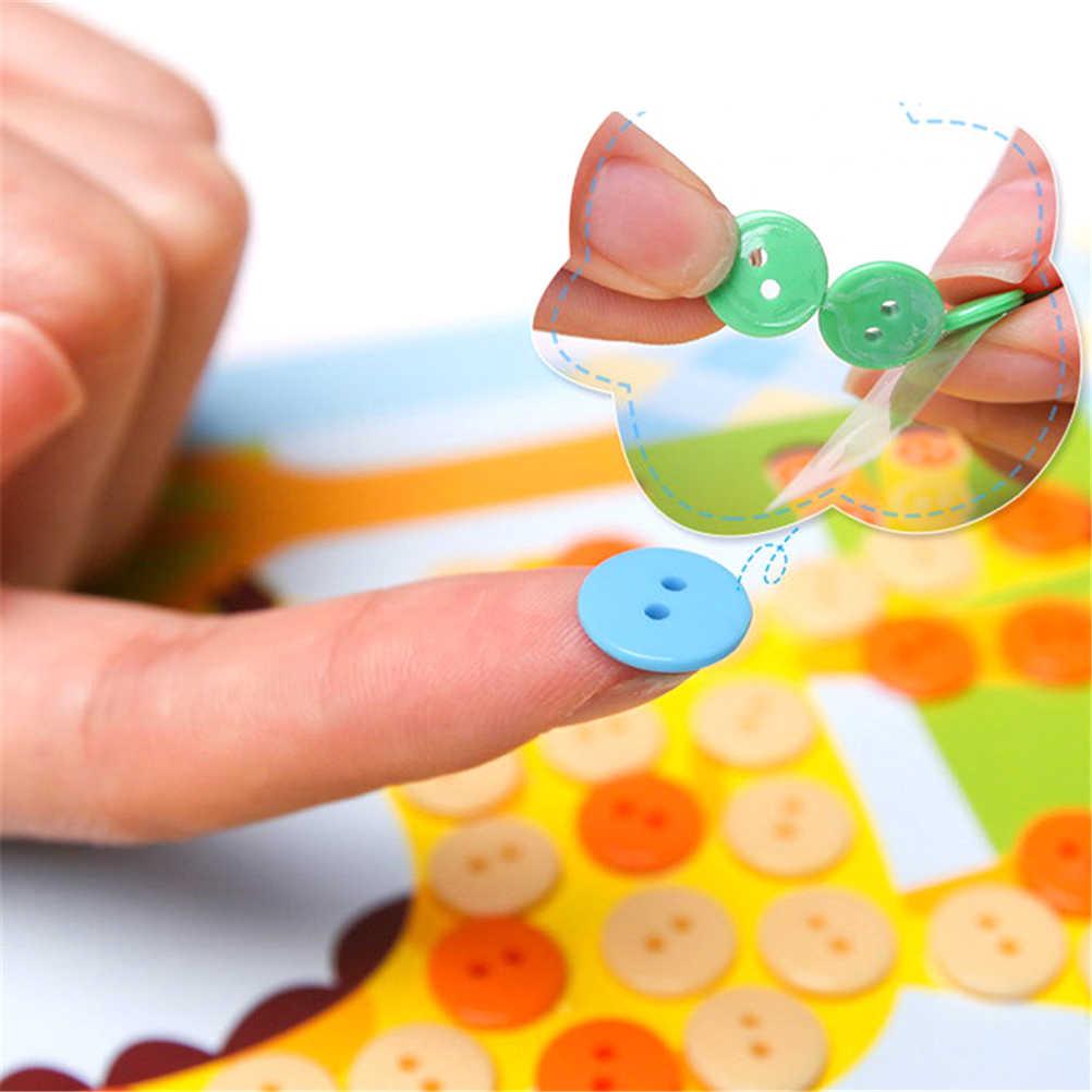 DIY botón a la pintura del arte creativo chico s Sticky Art juguetes educativos hechos a mano para más de 3 años chico niños