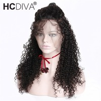Kinky Curly Full Lace Human Hair Wigs With Baby Hair Pre Plucked Hairline 150 Density Brazilian Wigs Remy Human Hair Wigs HCDIVA