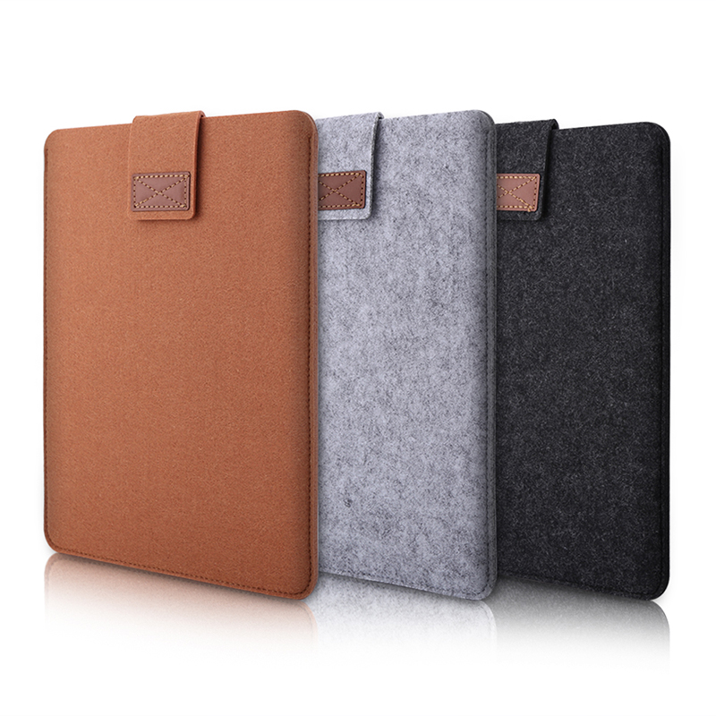 VBESLIFE New 11/13/15inch New Soft Laptop Cover Case Sleeve Bag Pouch For Macbook Pro Air Retina Gray, Dark Gray, Brown Colors