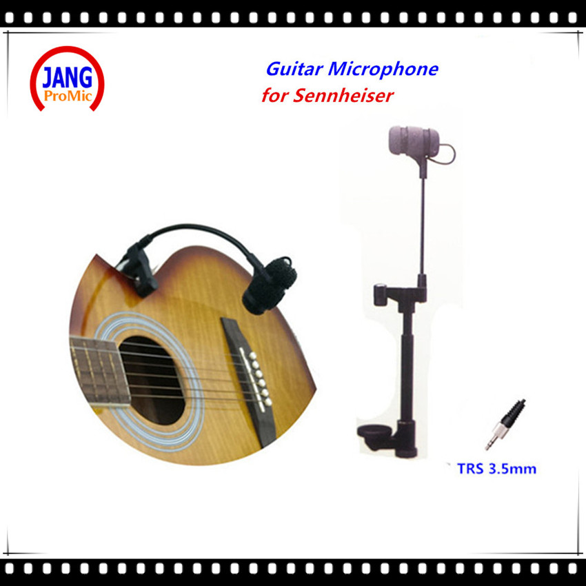 Professional Geoogenseck Musical Guitar Microphone Instrument Microfone for Sennheiser Wireless System 3.5mm Screw Jack Mikrofon  professional waterproof condenser microphone sport headset microfone for sennheiser wireless system trs 3 5mm screw jack mic