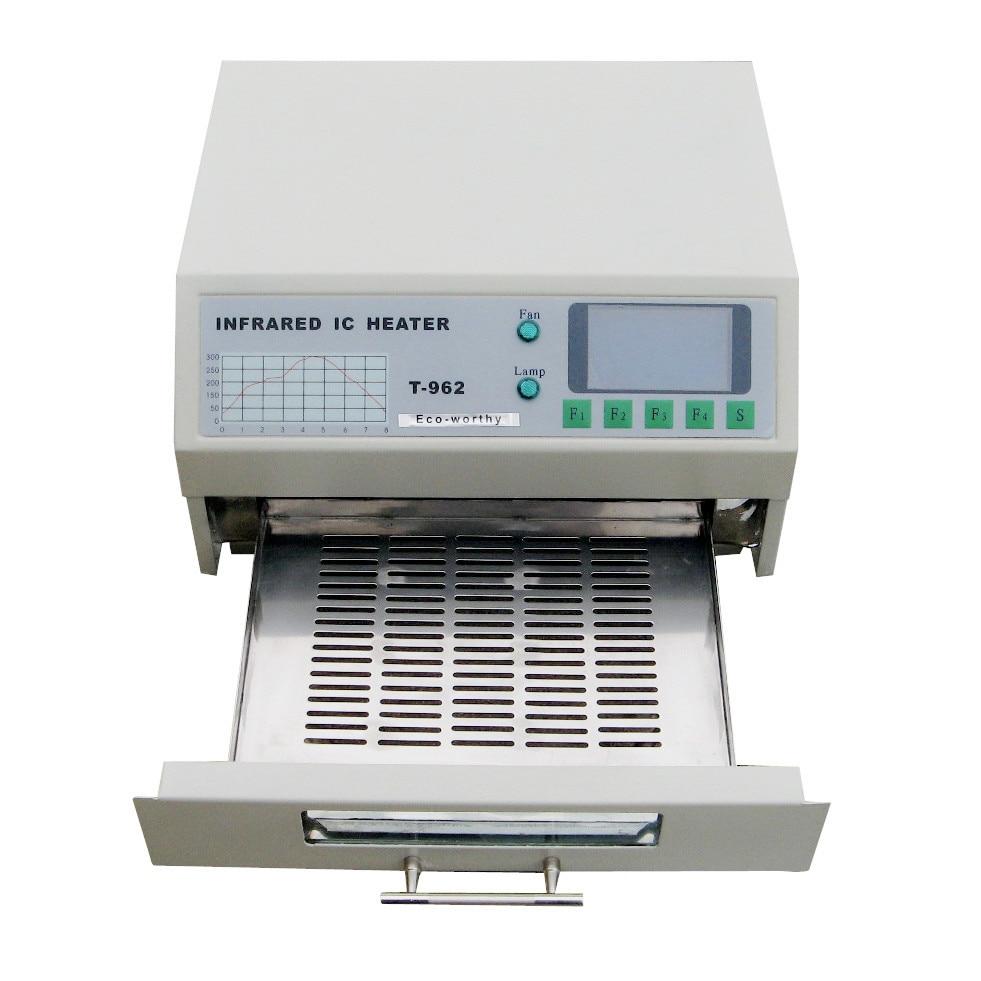 DC HOUSE 220V T-962 800W 180 X 235mm Desktop Reflow Oven Infrared IC Heater Soldering Station For BGA SMD SMT Rework