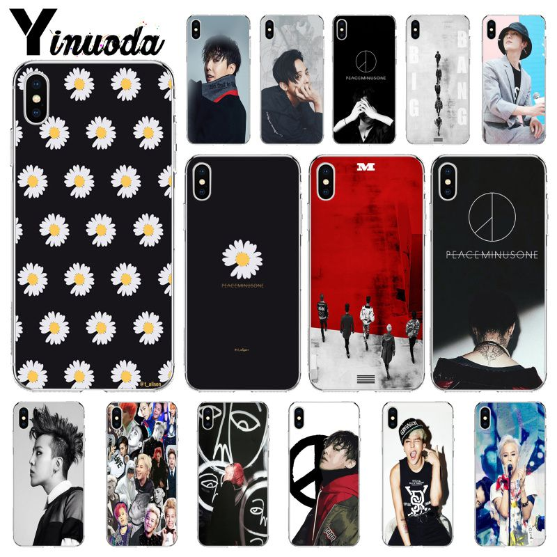 Yinuoda G-DRAGON <font><b>BIGBANG</b></font> GD peace minusone Customer High Quality Phone Case for iPhone X XS MAX 6 6s 7 7plus 8 8Plus 5 5S SE XR image