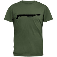 GILDAN T-shirt Casual Short Sleeve For Men Clothing Summer Mossberg Silhouette Military Green T-shirt