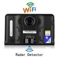 Udricare 7 дюймов GPS Android GPS навигации видеорегистратор Регистраторы 16 г Антирадары Wi Fi Интернет fm передачи Планшеты GPS Бесплатная географические