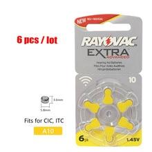 6 шт. RAYOVAC Экстра A10 цинк воздуха производительность слуховой аппарат батареи PR70 10 A10 10A слуховой аппарат батарея