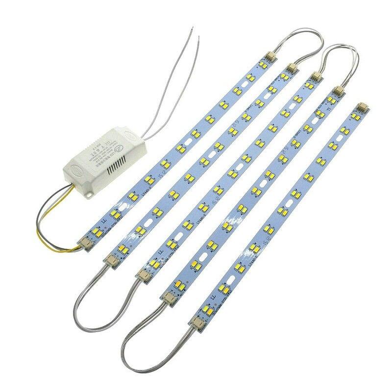 31 cm Long 5730 LED Bar Lumière LED Tube Plafond Lampe Source de Lumière LED Haute Luminosité Avec Conducteur à Réglage Électrique Froide Blanc/Chaud blanc