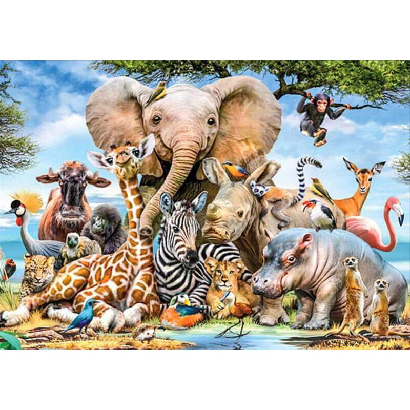 LaoJieYuan Animals DIY Crystal full drill square 5D diamond painting cross stitch kit mosaic round rhinestoneLaoJieYuan Animals DIY Crystal full drill square 5D diamond painting cross stitch kit mosaic round rhinestone