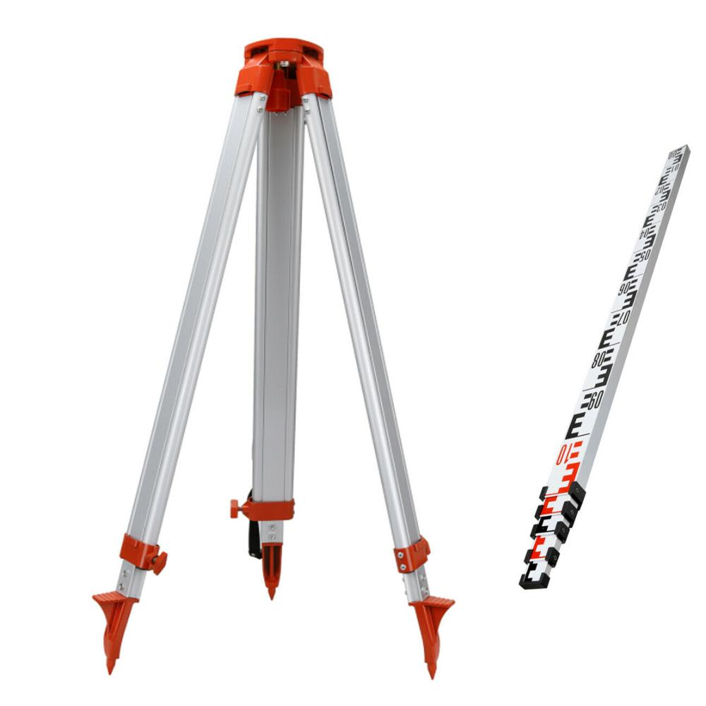1.65M Tripod + 5M Staff Ruler For Laser Level That Rotates 360 ° Laser Level