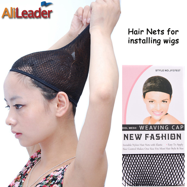 New Fashion Black Weaving Net For Hair One Size Fits All Mesh Cap Open End