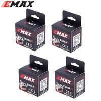 4x emax 9g alta sensível mini sub micro servo es08a 8g es08 3d rc helicóptero de avião es08md es08ma mg90s