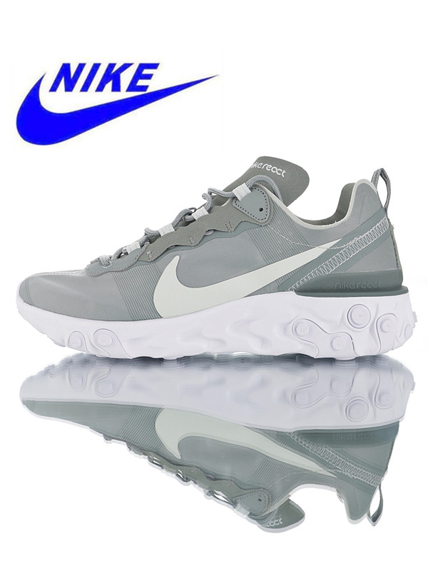 online store 2dc1d 705a9 Official Original Nike React Element 55 Men's Running Shoes Outdoor Sports  Shoes Shock Absorption Non-