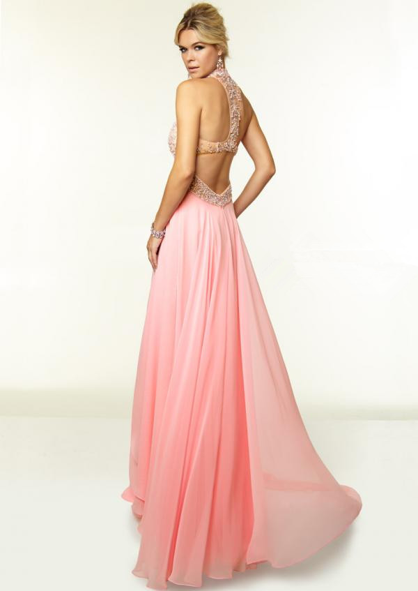 Red Pink Prom Dresses Long Light Blue Prom Gowns Chiffon A Line ...