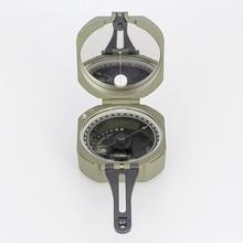 Военный Многофункциональный геологический компас M2 из цинкового сплава, Водонепроницаемый Флуоресцентный Компас для выживания на открытом воздухе, походные инструменты