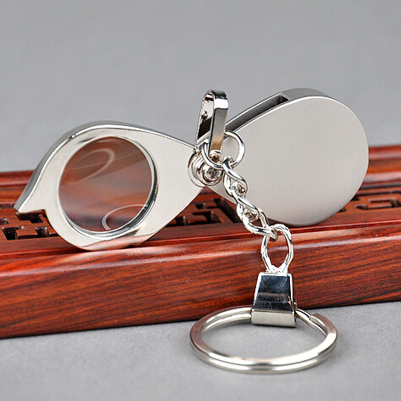 5X20MM The Elderly Use Gift Pocket Keychain Type Loupe Portable Magnifying Glass Toy Magnifier for Children with Key Chain