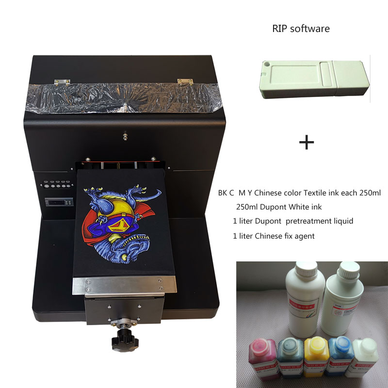 A4 size Economic  DTG T-Shirt Printer with RIP softwareA4 size Economic  DTG T-Shirt Printer with RIP software