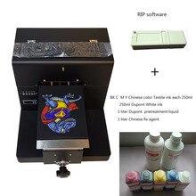A4 Размер Экономические DTG принтер для футболок с программное обеспечение RIP
