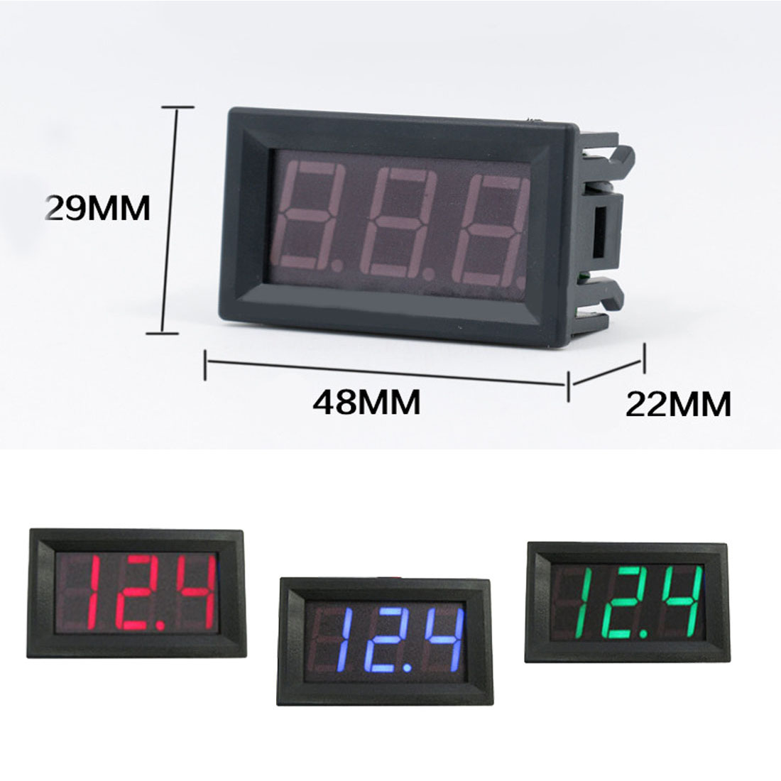1pcs High Quality 0.56 inch LED DC 4.50V-30.0V Digital Voltmeter Home Use Voltage Display 2 Wires Red And Black yb27a led ac 60 300v digital voltmeter home use voltage display w 2 wires