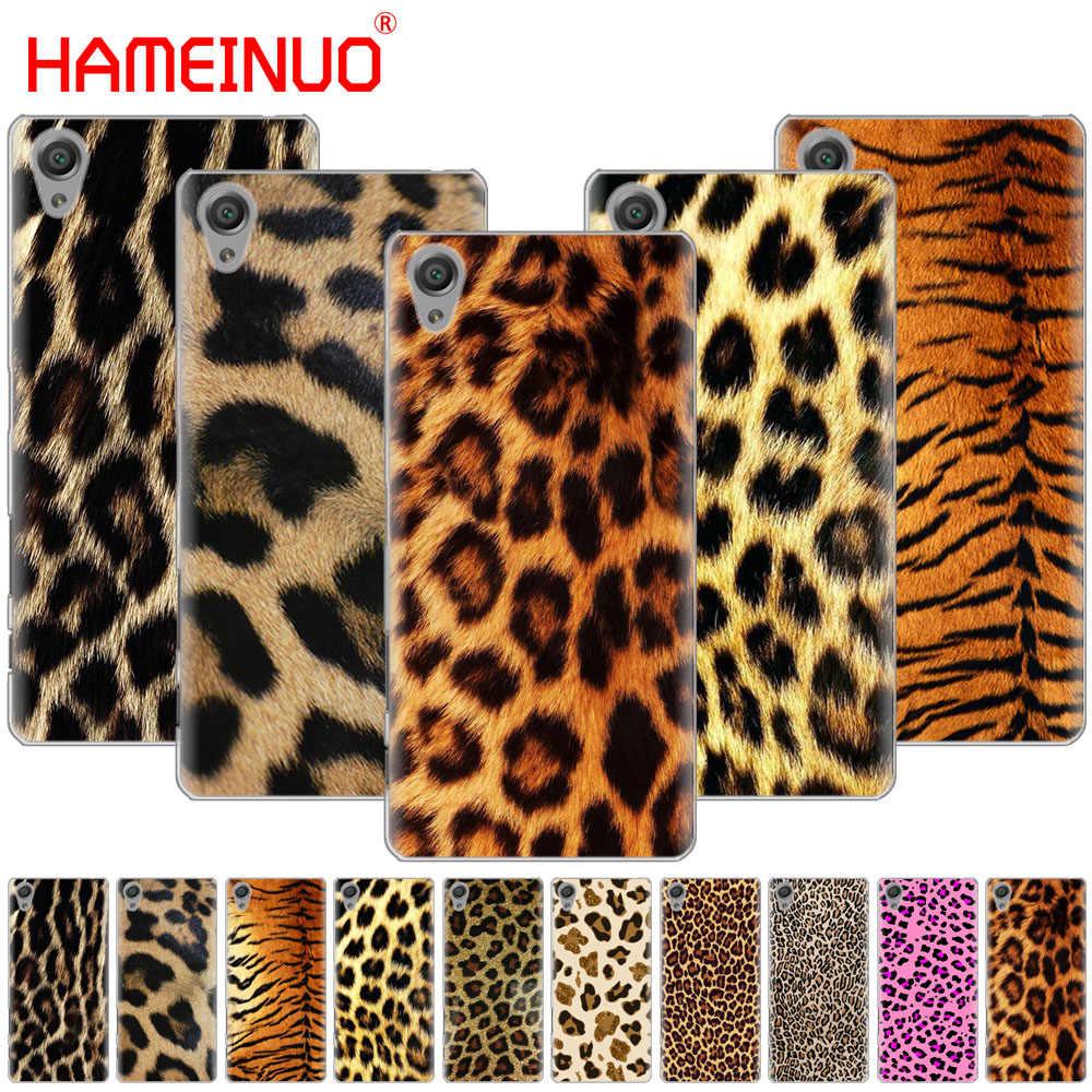HAMEINUO funda de teléfono con estampado de leopardo Tigre pantera para sony xperia z2 z3 z4 z5 mini plus aqua M4 M5 E4 E5 E6 C4 C5