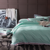 Light Green Duvet Cover Set Queen King Bedding Set For Adults Red And Blue Stripes Duvet