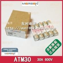 SAMERSEN fuse FERRAZ Shawmut AMP-TRAP fuse ATM30 30A 600V--5PCS/LOT