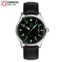 Karneval Mode Automatische Uhr Männer Luminous Hände Mens Pilot Uhren Top Marke Luxus Armbanduhr Männlichen Uhr erkek kol saati