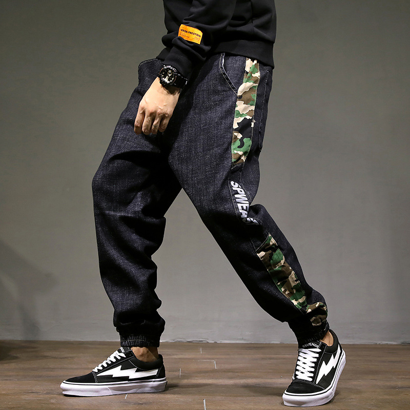 Harem Pants Jeans Ankle-Length-Pant Joggers Streetwear Toursers Military Loose Cotton