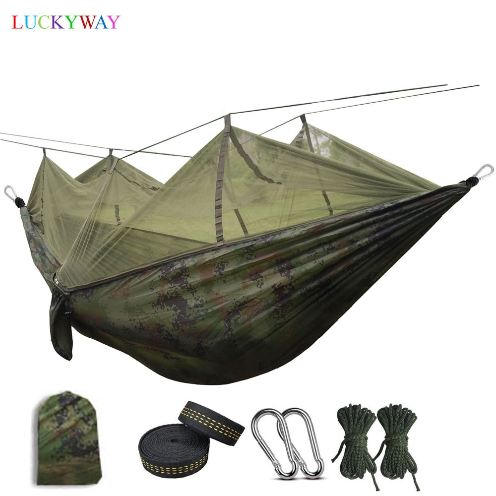 Dropshipping Portable Mosquito Net Hammock High Strength Parachute Fabric Hanging Bed With Mosquito Net For Outdoor CampingDropshipping Portable Mosquito Net Hammock High Strength Parachute Fabric Hanging Bed With Mosquito Net For Outdoor Camping