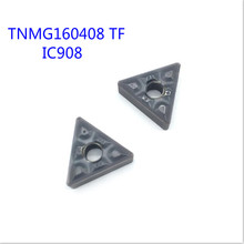 TNMG160408 TF IC907 / IC908 External Turning Tools Carbide insert TNMG 160408 Lathe cutter Tool Tokarnyy turning insert free shipping high quality grooving inserts holder tools cutter bar dgtr2020 2t18 for carbide insert dgn2002j ic907 ic908