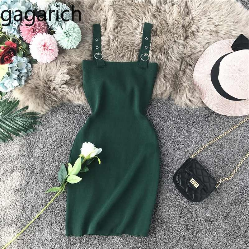 Gagarich Women Dress 2019 Fashion Night Club Summer New Sexy Low Chest Slim Solid Stretch Bodycon Mini Short Dresses