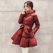 Korean Winter Jackets Parkas For Women Winter Womens Quilted Coat 2016 Lolita Ukraine Female Jacket Long Coats Manteau Femme New