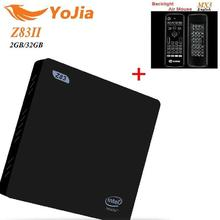 VONTAR 2GB 32GB Z83 II Mini PC Atom x5-Z8350 Support Windows 10 Linux Bluetooth 4.0 USB3.0 1000M LAN 2.4G+5.8G Dual Wifi TV Box