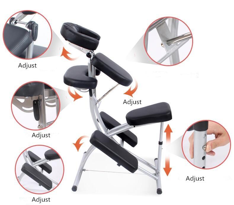 Deluxe Fodable Tattoo Spa Chair Salon Furniture Lightweight Portable Modern Folding Massage Tattoo Beauty Chair Leather Black