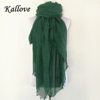 Winter And Autumn Scarf Women High Quality Shawls And Scarves Linen Cotton Scarf Warm Solid Color