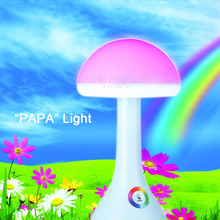 New led creative night light fashion 256 color atmosphere Desk Lamp USB charging LED energy saving eye table light mushroom lamp icoco usb charging led hourglass night light time record atmosphere sandglass desk lamp gift 2018 new version