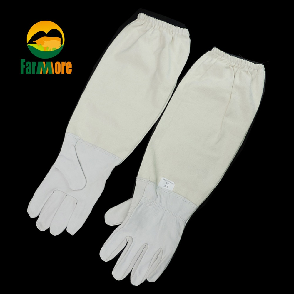 Beekeeping Gloves Anti-bee and Anti-sting Beekeeper White/yellow Protective Gloves Bees and Beekeeping Tool Apiculture Supplies