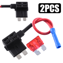 1pcs 12V Fuse Holder Add-a-circuit TAP Adapter 10AMP Standard Blade Auto with