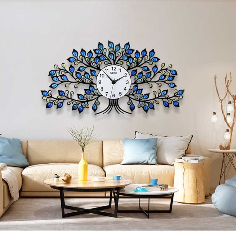 Ретро большие настенные часы современный дизайн цифровой немой кристалл дерево настенные часы гостиная спальня столовая Часы настенные ук