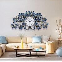 Retro Large Wall Clock Modern Design Digital Mute Crystal Tree Wall Watch Living Room Bedroom Dinning Room Clock Wall Home Decor