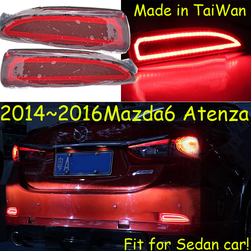 ФОТО car-styling,Mazd6 Atenza Breaking light,2014~2016,led,Free ship!2pcs,Atenza rear light;car-covers,Atenza tail light,Chrome,6