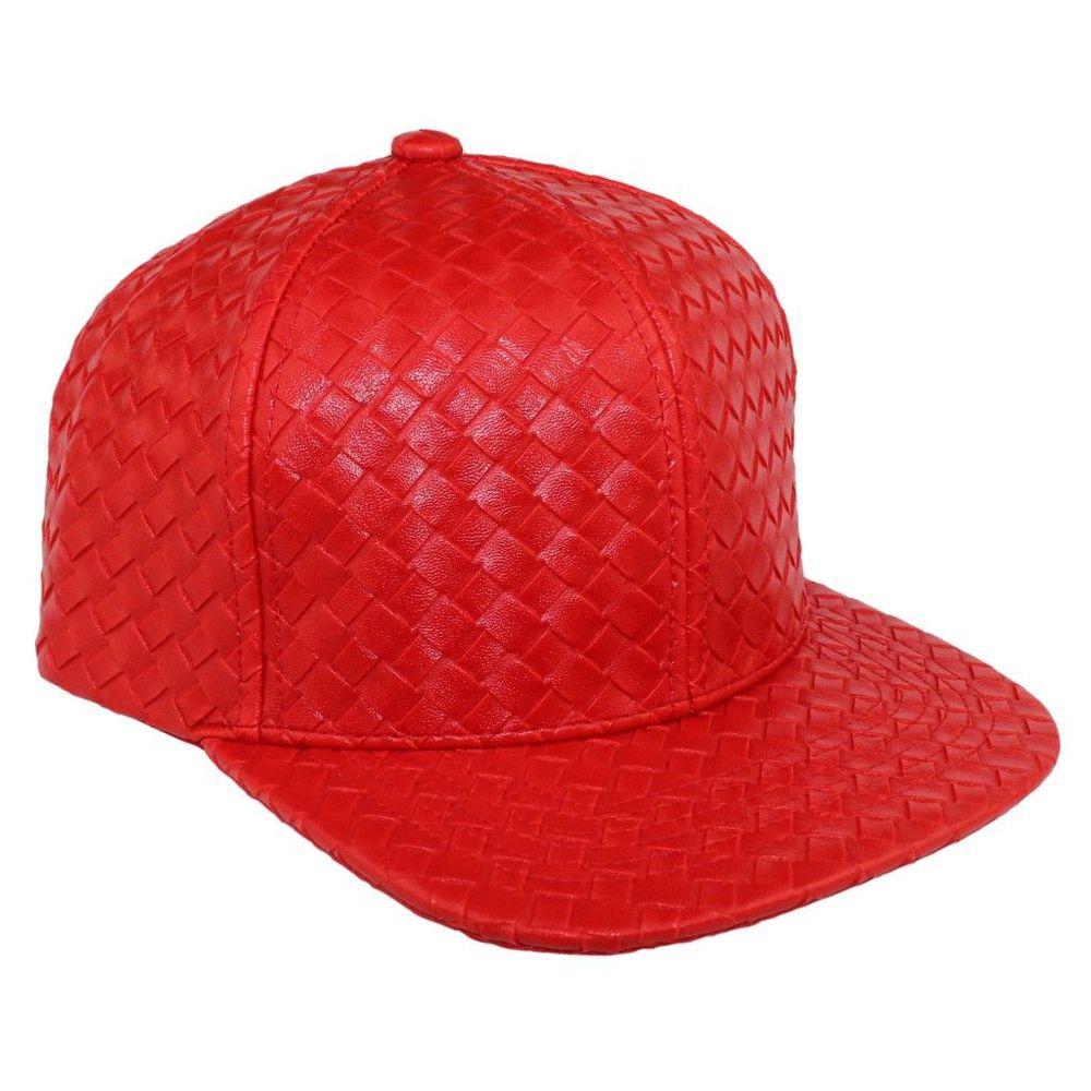 Bboy в стиле хип-хоп Танцы Шапки и шляпа бейсболка Человек Женщины Креста Ткань Кожа Cap Летний плед дизайн открытый ВС шляпы Повседневная 7 видов цветов - Цвет: Красный