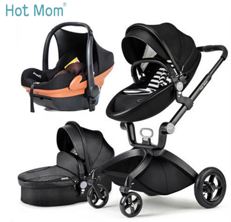 Hotmom stroller of high landscape can sit or lie in folded stroller easy baby stroller Russia Free Shipping все цены