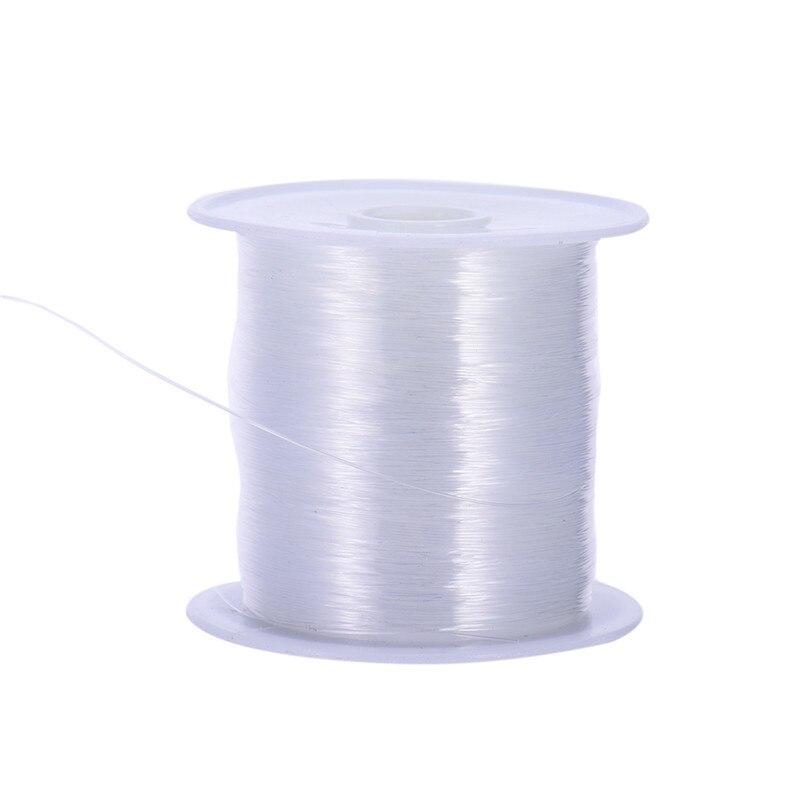 10 м/roll прозрачный DIY ювелирных ремесло Бисер Нитки нейлон Чистый белый шнур свадебные туфли Костюмы материалы Вышивание Нитки