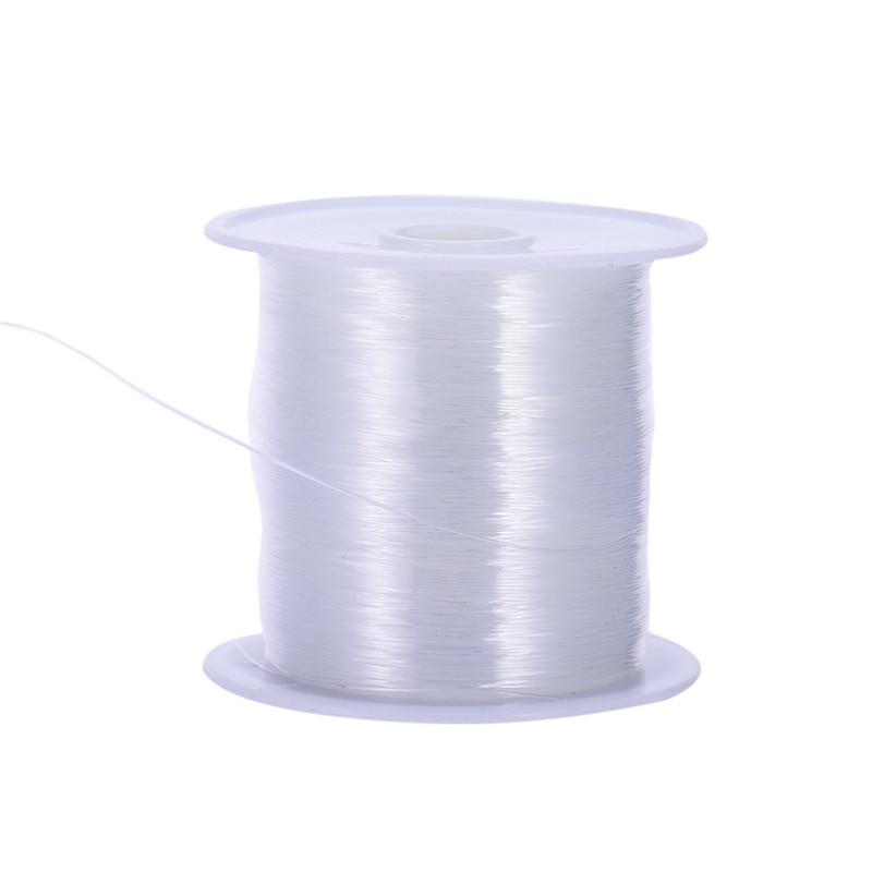 10m / Roll Transparante Diy Sieraden Craft Kralen Draad Nylon Helder Wit Lijn Koord Trouwschoenen Kleding Materialen Naaigaren