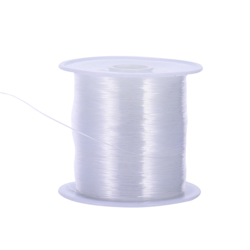 10m / Roll שקוף Diy תכשיטים מלאכה חרוז חוט ניילון קו לבן ברור חוטיני חתונה הלבשה חומרים תפירה